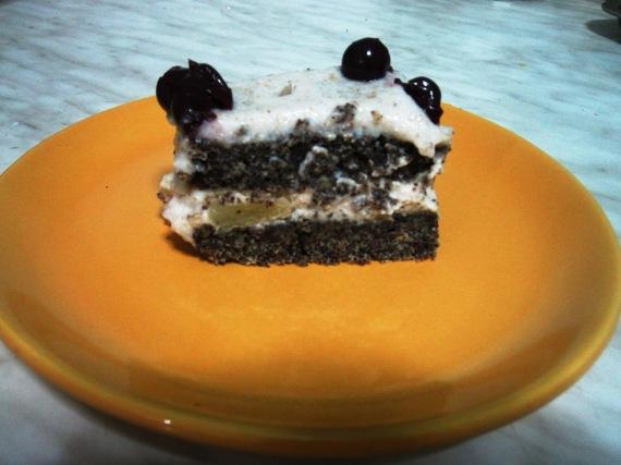 makos torta szelet